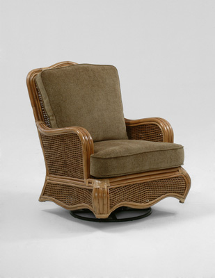 Braxton Culler - Wicker / Rattan Swivel Glider with Cushions - 1910-202