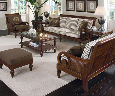 Braxton Culler - Wood Frame Loveseat with Cushions - 934-019