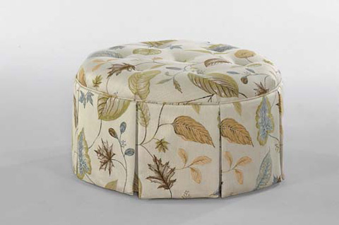 Braxton Culler - Small Round Ottoman with Casters - 643-009