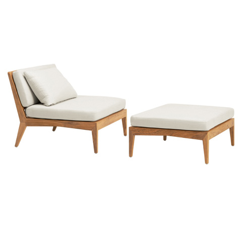 Brown Jordan - Armless Lounge Chair with Loose Cushions - 3900-6430