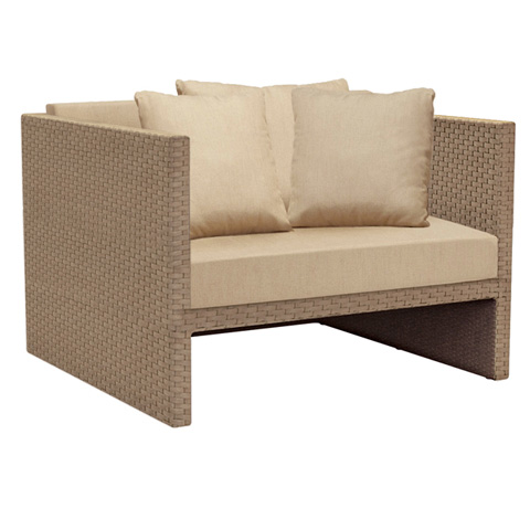 Brown Jordan - Club Chair with Loose Cushions - 4080-6460