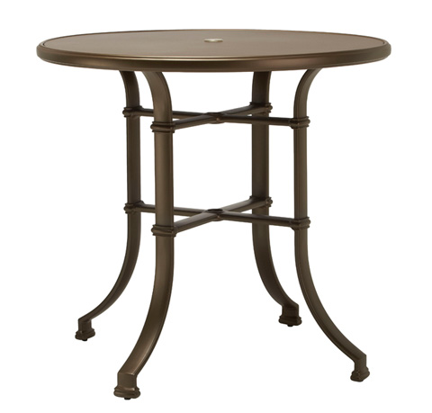 Brown Jordan - Round Bar Table with Aluminum Top - 4327-4200-AT