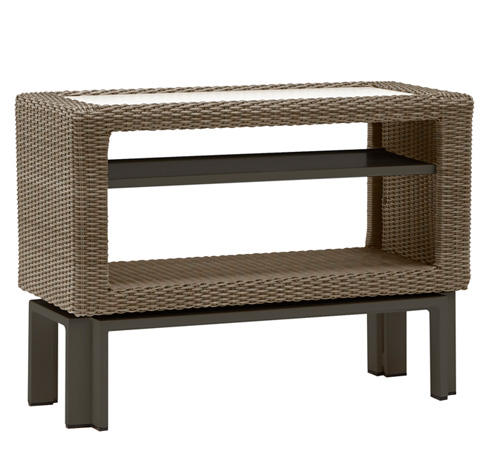 Brown Jordan - Console Table with Adjustable Shelves - 5061-1535