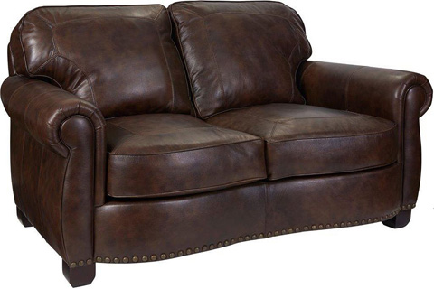 Broyhill Furniture - New Vintage Leather Loveseat - L4258-1