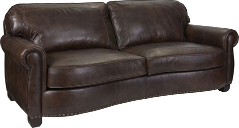 Broyhill Furniture - New Vintage Leather Sofa - L4258-3