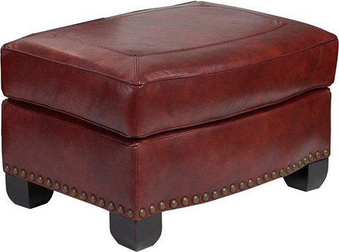 Broyhill Furniture - New Vintage Leather Ottoman - L4258-5