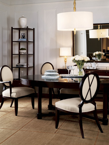 Baker Furniture - Oval X-Back Dining Side Chair - 3440
