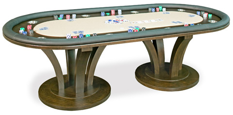California House - Oval Fixed Top Texas Hold'em Table - T72-OVL-VEN-FX
