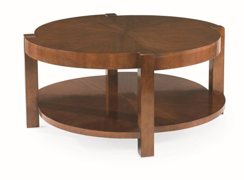 Century Furniture - Round Cocktail Table with Undershelf - 559-608