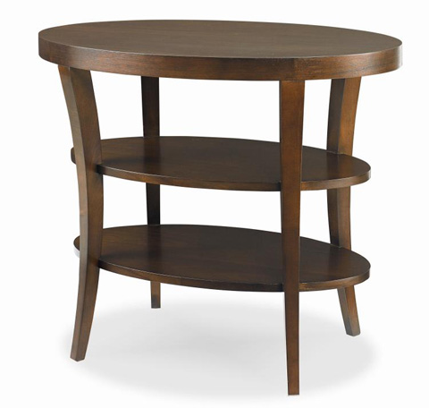 Century Furniture - Oval Lamp Table with Shelves - 33H-622