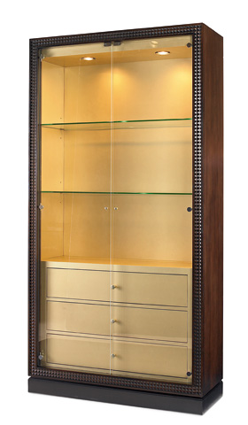 Century Furniture - Glass Front Curio with Drawers - 339-421