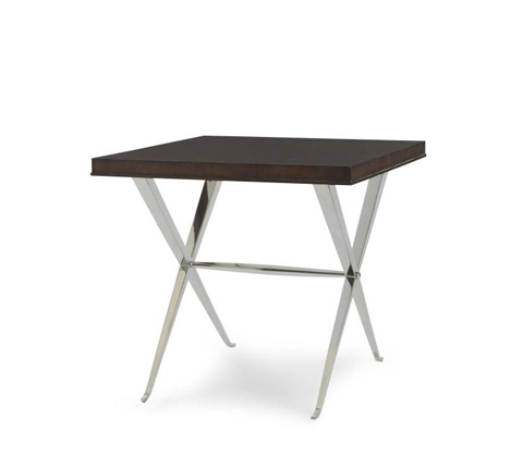 Century Furniture - Lamp Table with Metal Base - 55H-639