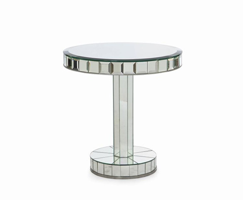 Century Furniture - Mirror Glass Chairside Table - 81B-627
