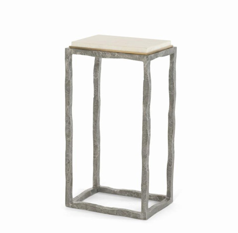 Century Furniture - Side Table with Hammered Steel Base - SF5485