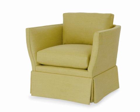 Century Furniture - Oasis Skirted Swivel Chair - ESN259-8SK