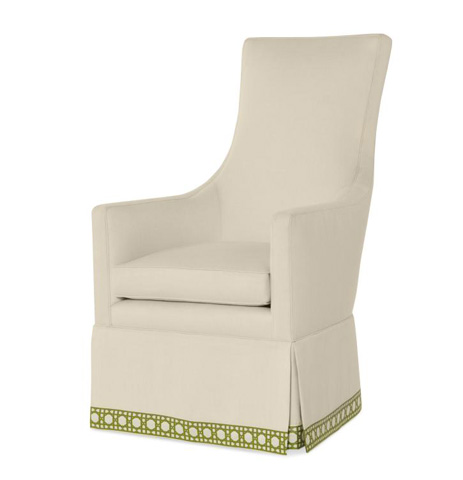 Century Furniture - Charlottesville Skirted Wing Chair - I2-11-1027LSK
