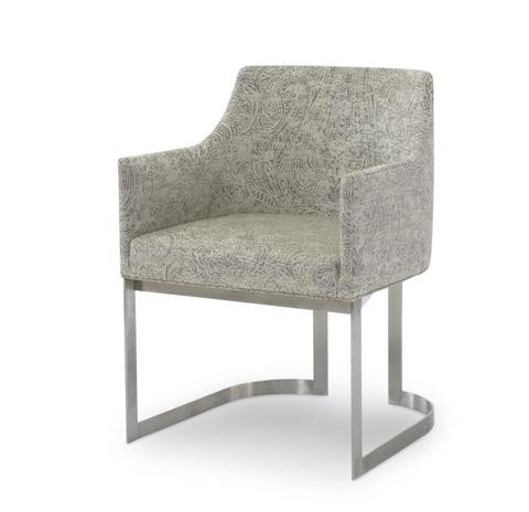 Century Furniture - Copenhagen Stainless Arm Chair - 3388A-1