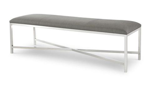 Century Furniture - Valence Metal Bench - 3949
