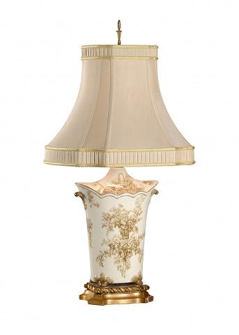 Chelsea House - Toile Bouquet Lamp - 68087