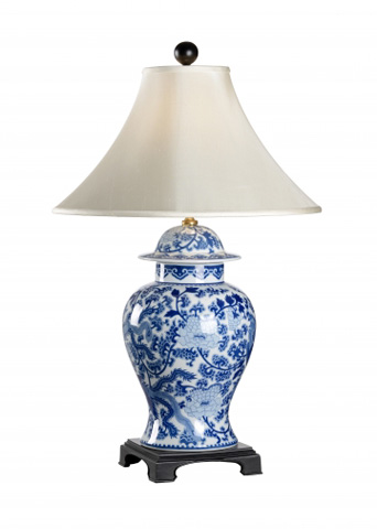 Chelsea House - B and W Temple Jar Lamp - 68190