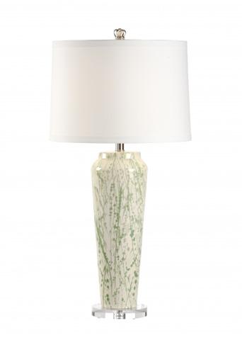 Chelsea House - Green Splatter Lamp - 68617