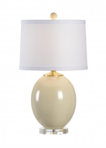 Chelsea House - Oval Vase Lamp in Beige - 68643
