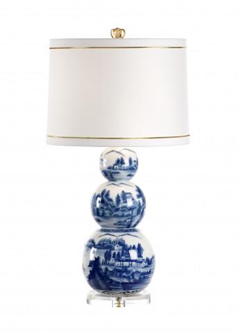 Chelsea House - Scenic Blue Lamp - 68694