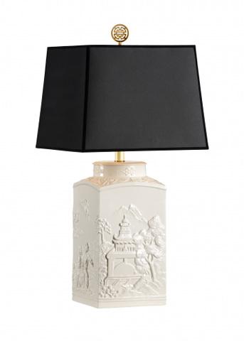 Chelsea House - White Scenic Lamp - 68859