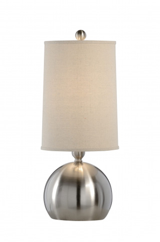 Chelsea House - Large Nickel Ball Lamp - 68884