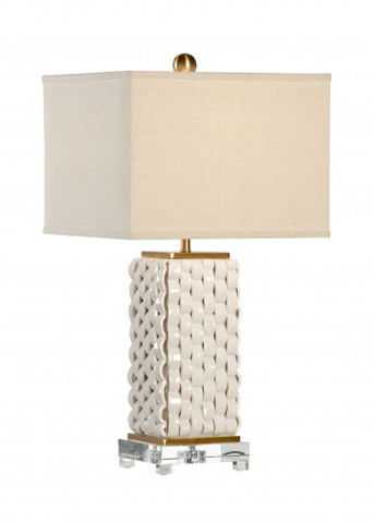 Chelsea House - Woven Lamp in White - 68885
