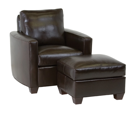 Classic Leather - Chesney Leather Ottoman - 35