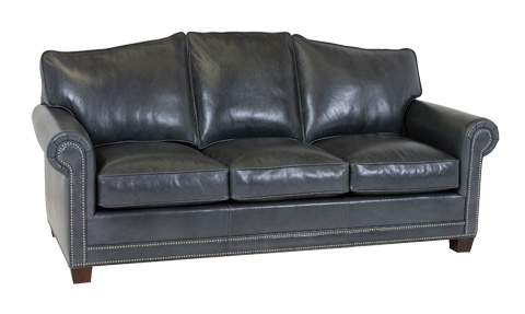 Classic Leather - Larsen Arched Back Sofa - 58-66-3/3-AB