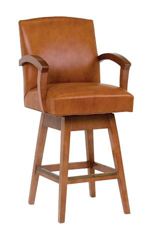 Classic Leather - Metro Swivel Bar Stool - 7130SB