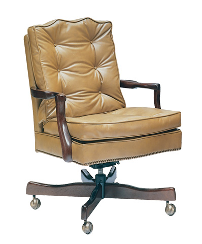 Classic Leather - Semi Attached Chippendale Swivel-Tilt Chair - 778-ST