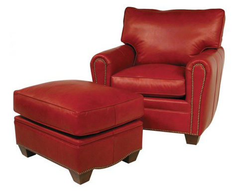 Classic Leather - Bowden Chair and Ottoman - 11325/11326