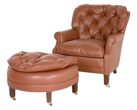 Classic Leather - Lounge Chair and Ottoman - 133/33