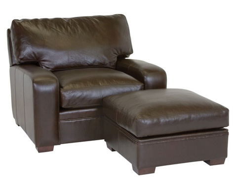 Classic Leather - Vancouver Chair and Ottoman - 4510/4511