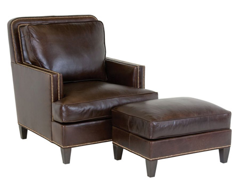 Classic Leather - Palermo Chair and Ottoman - 8550/8556