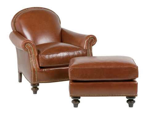 Classic Leather - St. James Chair and Ottoman - 455