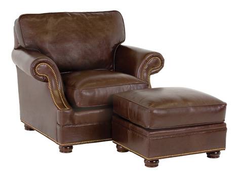 Classic Leather - Murano Chair and Ottoman - 86-22-SB