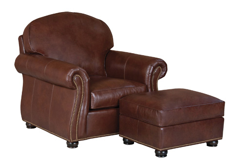 Classic Leather - Morrison Chair and Ottoman - 95