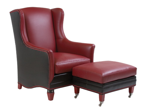 Classic Leather - Kemosabe Chair and Ottoman - TA-6515