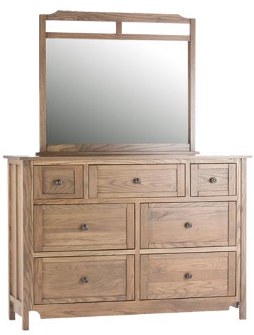 Conrad Grebel - Shoreham Seven Drawer Dresser and Mirror - D20AJ/D20C