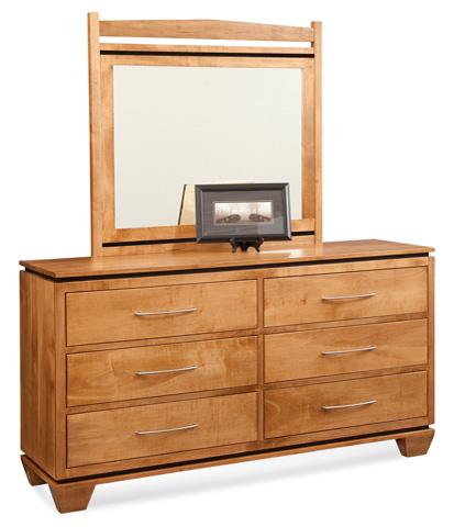 Conrad Grebel - Binghamton Six Drawer Dresser and Mirror - D90A/D90C