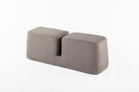 Control Brand - The Groove Bench - FAC1000GREY