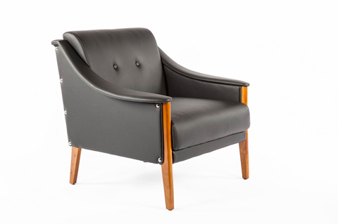 Control Brand - The Cadiz Lounge Chair - FXC88501BLK