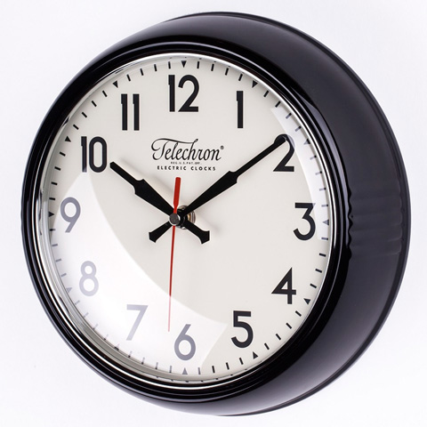 Control Brand - The Cambridge Wall Clock in Black - G131410BLK