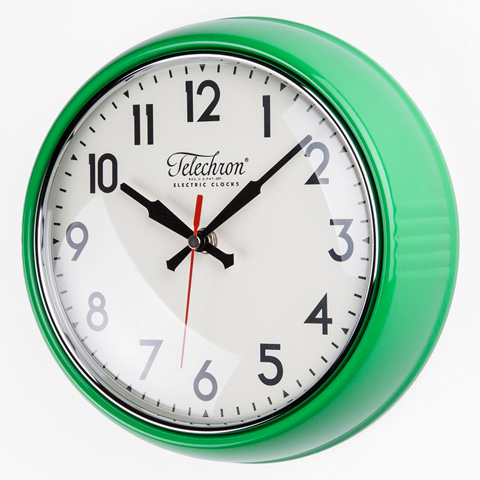 Control Brand - The Cambridge Wall Clock in Green - G131410GRN