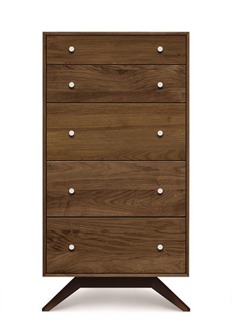 Copeland Furniture - Astrid 5 Drawer Chest - Walnut - 2-AST-50-14
