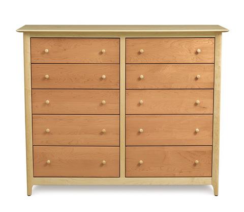 Copeland Furniture - Sarah 10 Drawer Dresser - Maple - 2-SRH-80